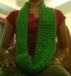 360 scarf in Lime