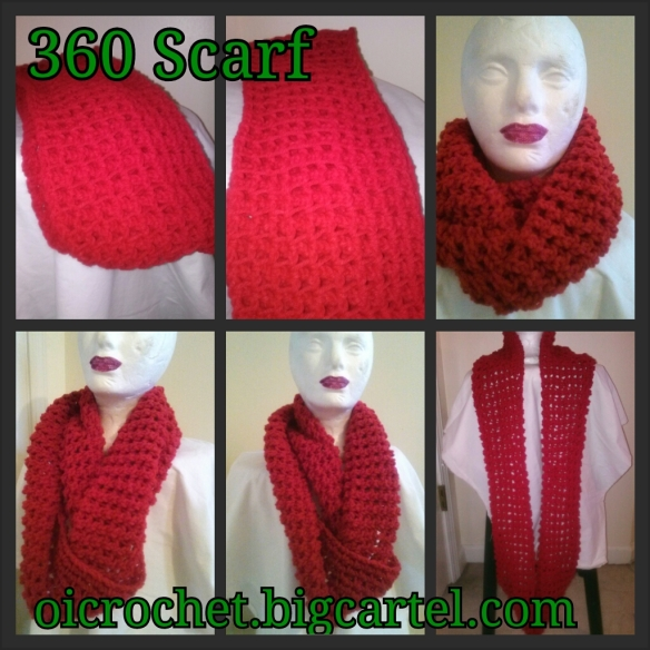 360/Infinity scarf by OI Crochet