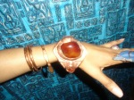 CARNELIAN & COPPER CUFF, CRAZY LACE AGATE RING