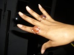 "custom ""FirestaHHrter"" ring: Carnelian and Copper"