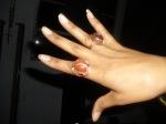 """custom """"FirestaHHrter"""" ring: Carnelian and Copper"""