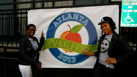 Me and Swarthy Daisy adding some natural flyness to the Atlanta Veg Fest 2013. :)